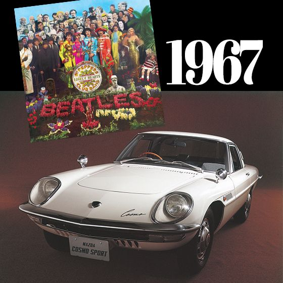It was 47 years ago today, Sgt. Peppers taught them how to play and Mazda released their first ever Rotary Engine Car - Mazda Cosmo Sport.  The 1967 Series 1 model was powered by a 982 cc, two-rotor engine with a 4-speed manual transmission. It produced 110 hp and had a top speed of 185 km/h.