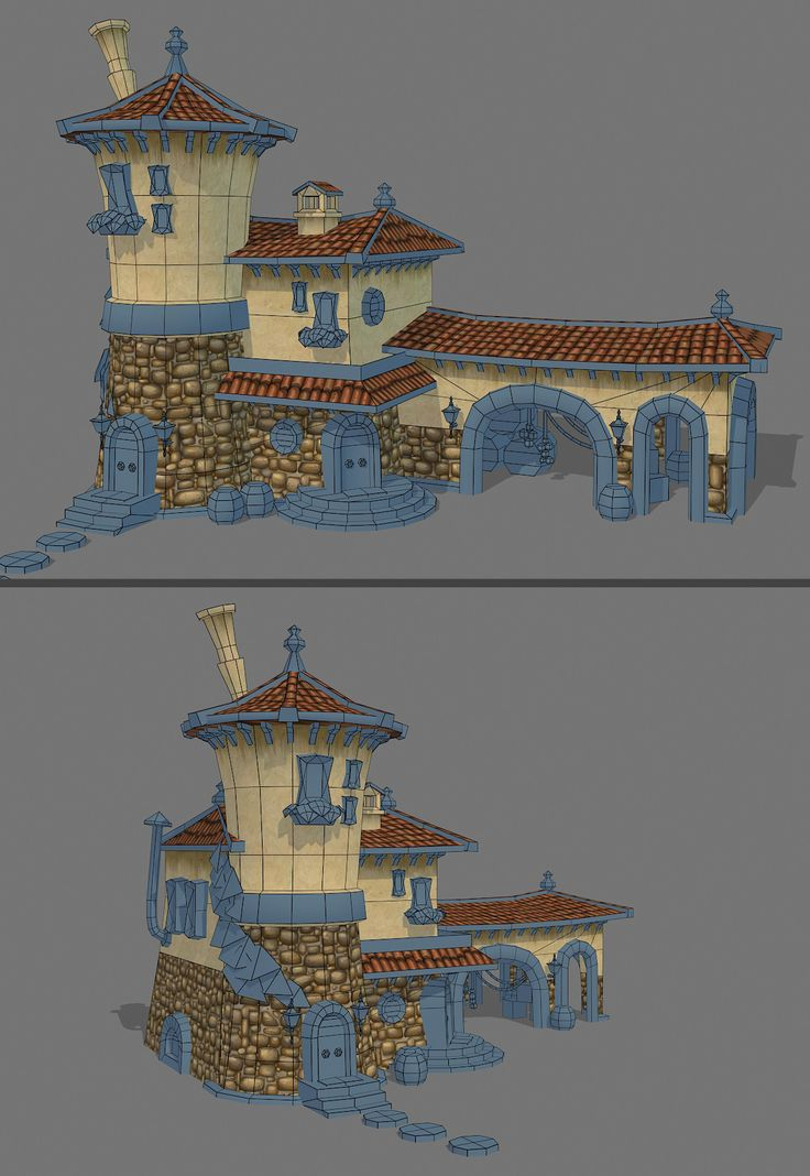 """""""Tuscany"""" by Jessica Dinh - amazing process documentation / discussion on Polycount"""