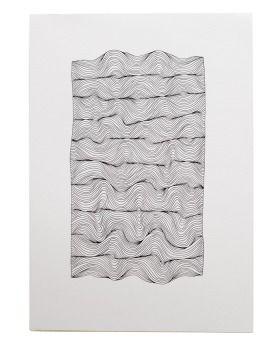 Fine black Artliner pen on 300gsm off white watercolour paper