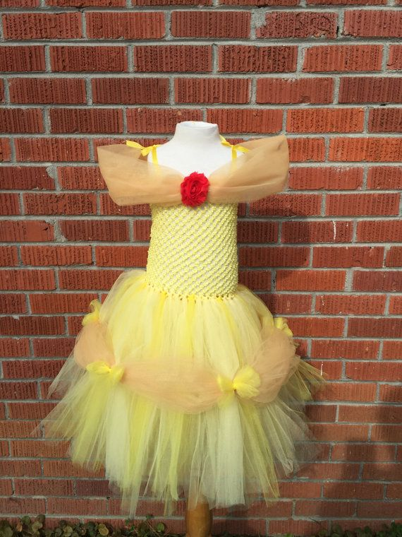 Princess Belle Tutu Dress - Belle Halloween Costume - Belle Costume for Toddlers - Belle Outfit - Belle Dress - Belle Costume