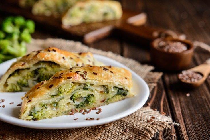 Strudel salato broccoli e scamorza