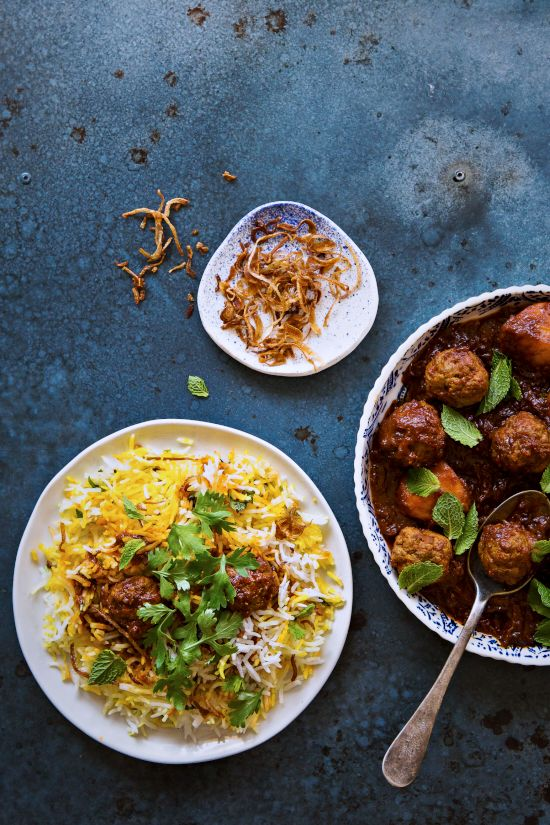 Sips and Spoonfuls: Indian Roast Chicken and Smoked Kofta Biryani