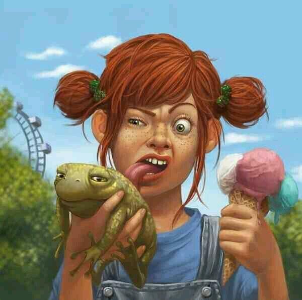 Pippi, the girl of the Astrid Lindgren books