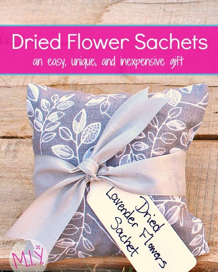 Dried Lavender Sachets; A totally Unique and Personal Gift They'll Love