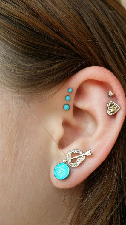 how to change triple forward helix piercing