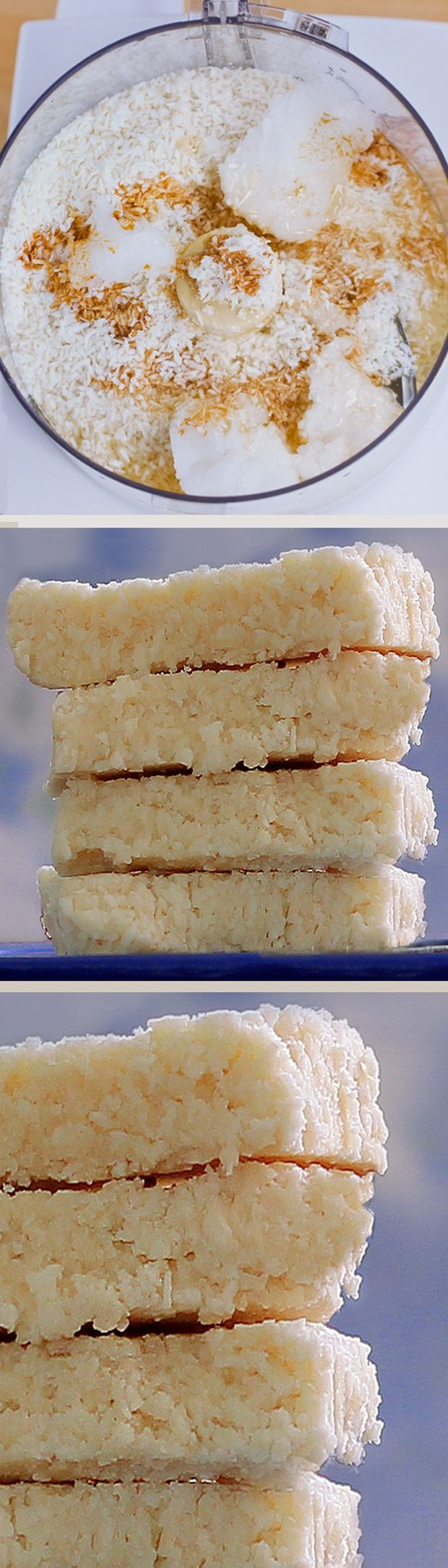 COCONUT CRACK BARS - 1 cup shredded coconut, 1/2 tsp vanilla extract, 1/8 tsp salt, 1/4 cup... Full recipe: http://chocolatecoveredkatie.stfi.re/2012/08/30/no-bake-coconut-crack-bars/ @choccoveredkt