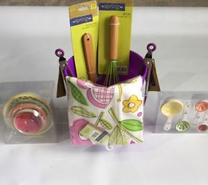 New Purple Bundle kitchen accessories Bucket: towel cup spoon tong whisk glove  | eBay