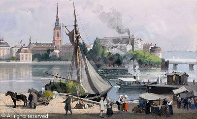 Anna Palm (1859-1924): Stockholm på 1850-talet; efter G.W. Palm
