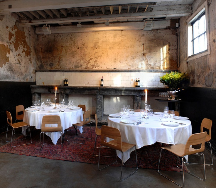 Dinner party in the old coach-house of Frankendael, Amsterdam