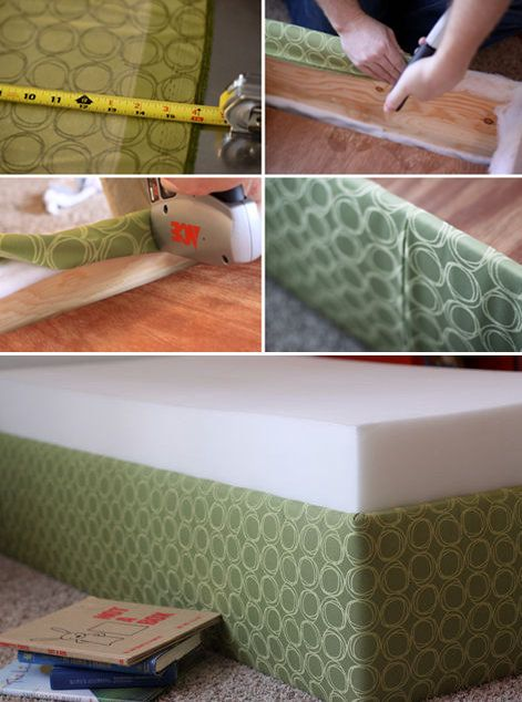 DIY Upholstered toddler beds... could work for bigger beds too.