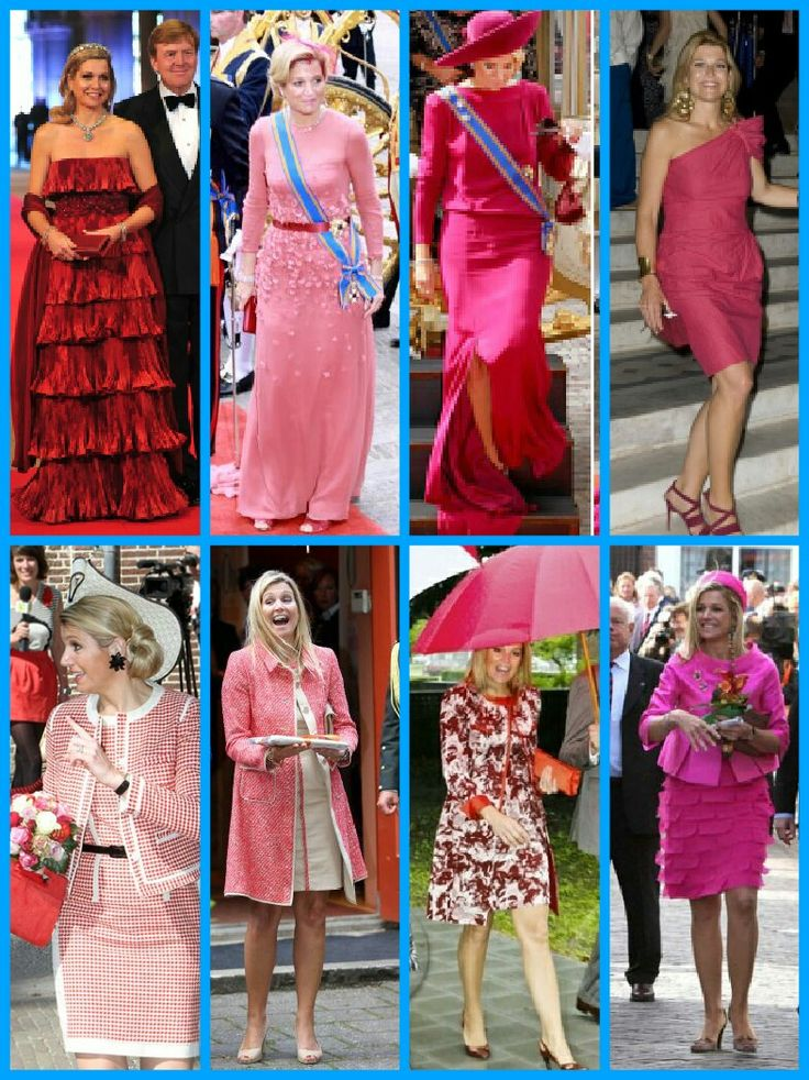 A beautiful array of stunning and gorgeous outfits on Queen Maxima of the Netherlands