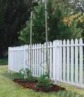 Twisting Plant Support by AM Leonard. $8.15. Made to last with green UV treated homo-polypropylene. The no-hassle Veggie Cage is your new way to help your plants grow. Use for tomatoes, snow peas, pole beans or any climber plant that needs support. Plants naturally follow the spiral as they grow. Cage extends to a whopping 7 feet tall. The no-hassle Veggie Cage eliminates the need for tying, and there's no blow-over to worry about! Heavy branches won't crimp like...