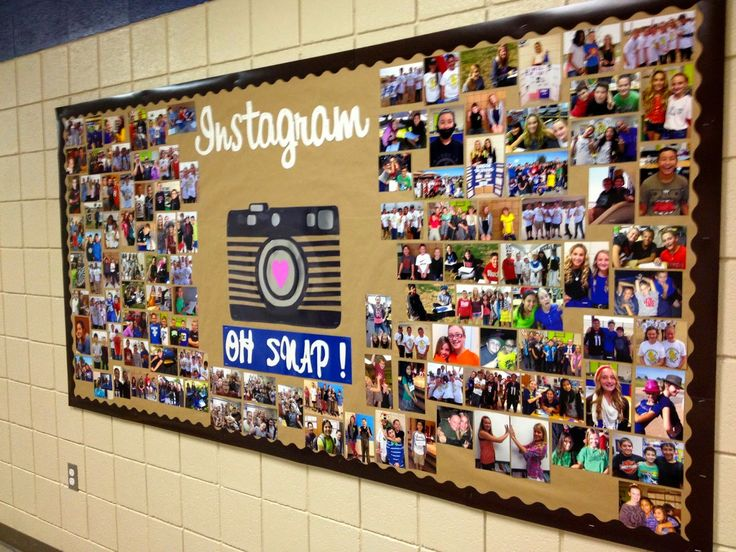 Instagram Bulletin Board. From Marci Coombs Blog.  This would be cute for YW so everyone can see what they have been up too!