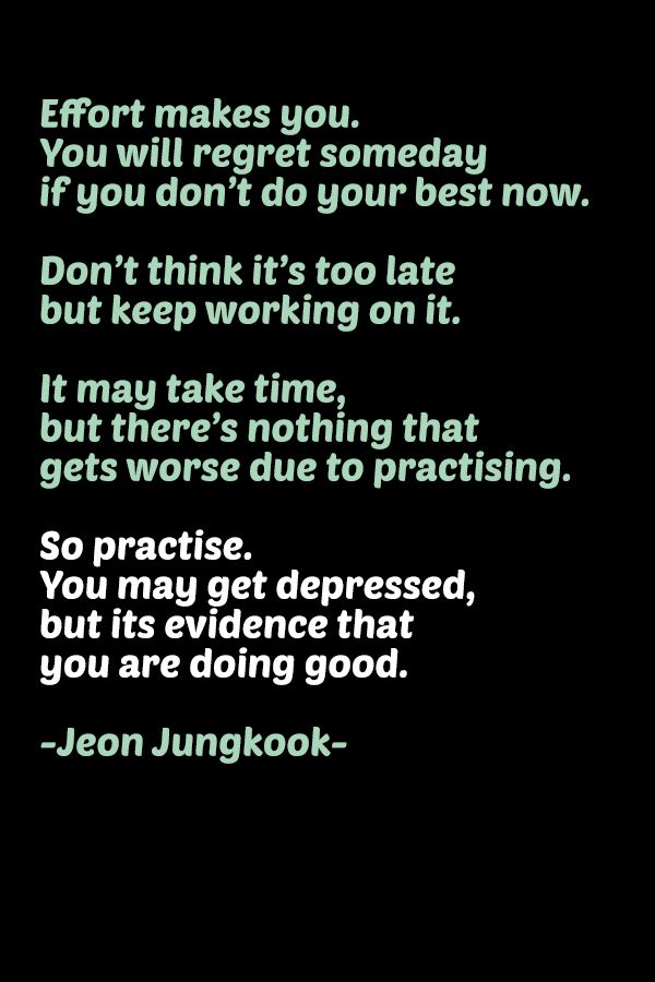 motivational quote by Jeon Jungkook - BTS's maknae | for ...
