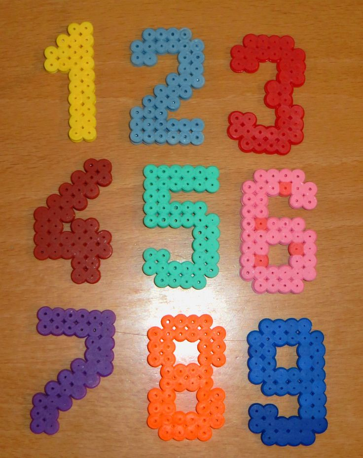 My own set of HAMA beads numbers (for my 2Y old son :))