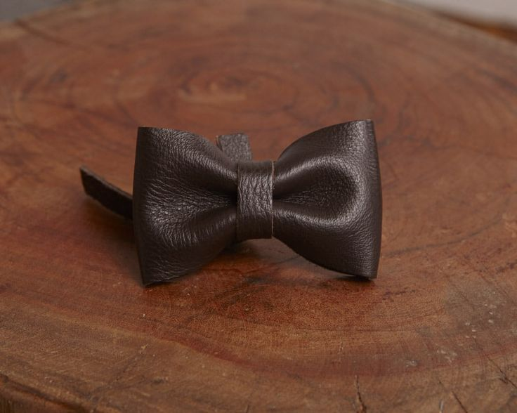 Brun Cafe - Luxury leather bow accessory for dog leash | Signe Louka