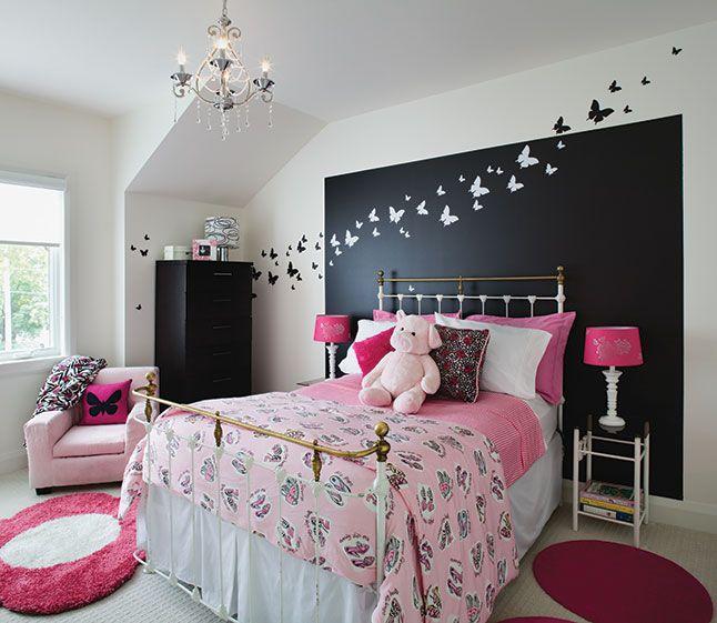 Trucs déco: la magie du noir, chambre avec mur noir | Les idées de ma maison