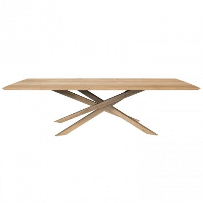 Ethnicraft Oak Mikado Dining Table 240 X 110 X 76cm 50178 Dining Table Table Dining
