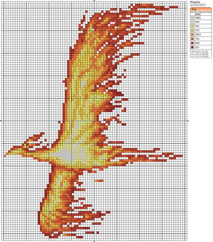 Phoenix By Makibird Stitching This Would Make A