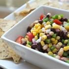 Texas Caviar I - Here's a spicy Texas favorite. Black-eyed peas and black beans are marinated in a fiery, flavorful mixture. This is great with tortilla chips or bread -- and plenty of cold iced tea!