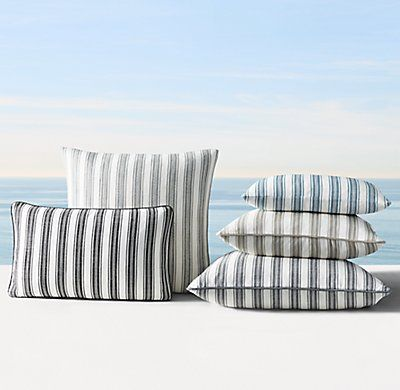 Custom Perennials® Marseille Coastal Stripe Pillow Cover