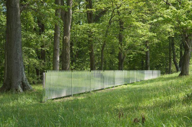 barrière de parc en miroir design