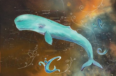 Star Gazer    by Catherine Holcombe  I absolutely love whales, and the colors here are gorgeous.