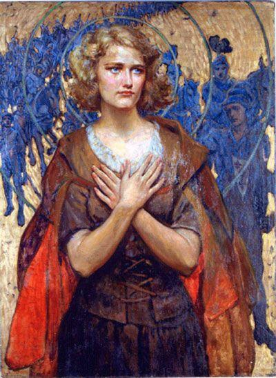 Jeanne d'Arc, by Paul Swan 1922