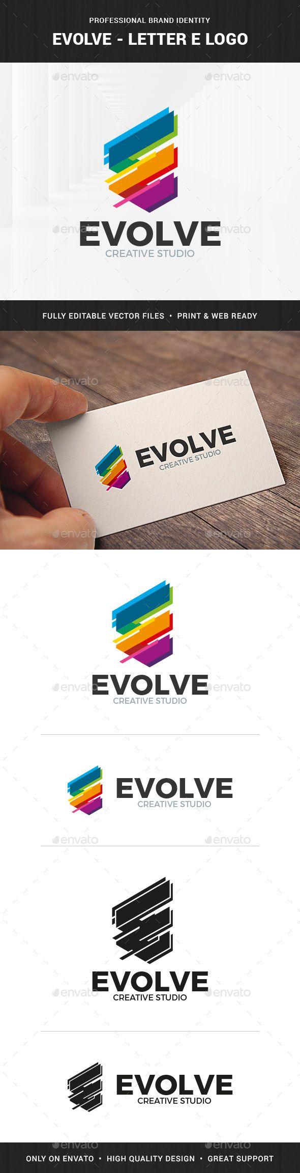 Evolve Letter E Logo  — EPS Template • Only available here ➝ https://graphicriver.net/item/evolve-letter-e-logo/17745604?ref=pxcr