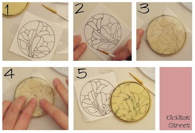How to transfer a design to a cookie without a projector.