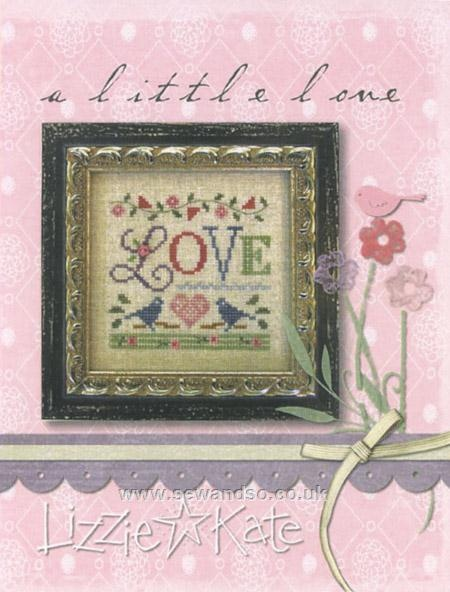 A Little Love Sampler Chart with Fabric/Beads from sew and so <3