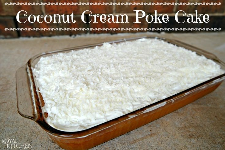 Coconut Cream Poke Cake ~ Looking for the perfect light, summer dessert?  Look no further and give this simply delicious recipe a try!