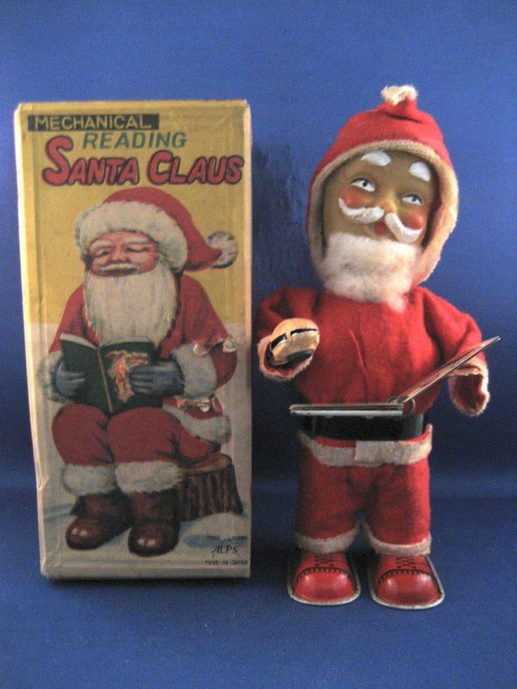 Alps Mechanical Reading Santa Claus / Circa 1950-60's