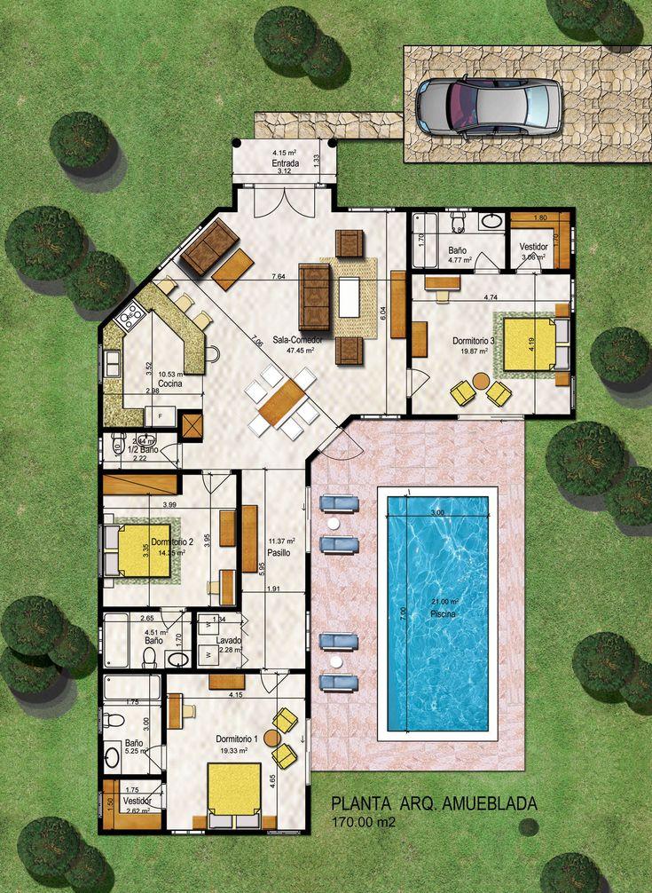 Villa 170m2 planjpg 13161800 3701 best House plan images