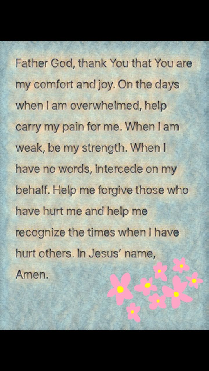 Prayer For Comfort And Joy During Overwhelming Times Prayer For Comfort Prayers For Healing Bible Study