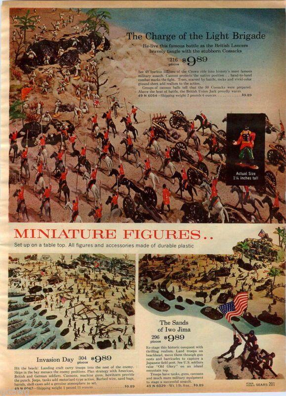 1964 ADVERT Toy Soldiers Sands Of Iwo Jima Civil War Fort Apache Light Brigade