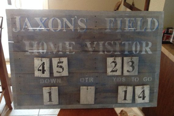 Customize Your Own Rustic Vintage Scoreboard By Rockpapersawzall