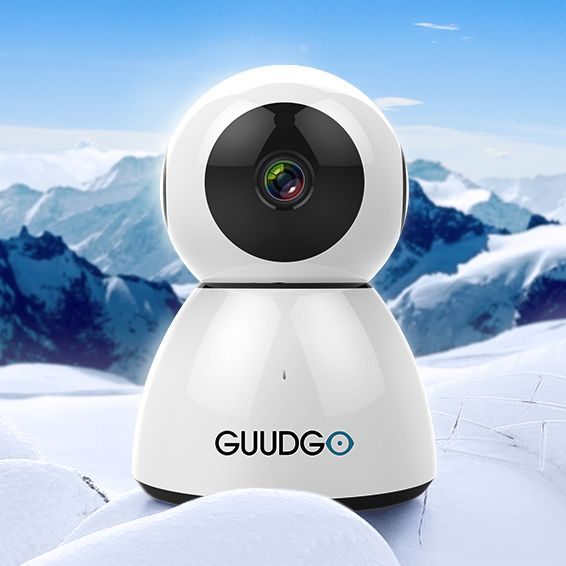 GUUDGO GD-SC03 Snowman 1080P Cloud WIFI IP Camera Pan&Tilt IR-Cut Night Vision Two-way Audio Motion Detection Alarm Camera Monitor Support Amazon-AWS[Amazon Web Services] Cloud Storage Service Euro 19,50