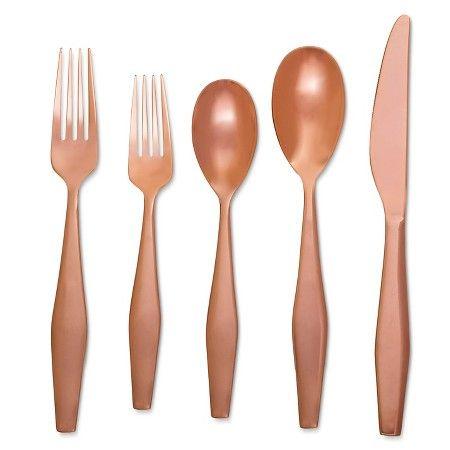 Flatware 5 pc Set Copper - Modern by Dwell Magazine : Target