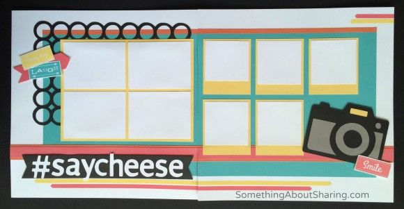 """Here's a great scrapbook layout for all of those """"just say cheese"""" photo ops. Click here for more page ideas and workshop kits. #SomethingAboutSharing #saycheese #scrapbooking #CTMHConsultant"""