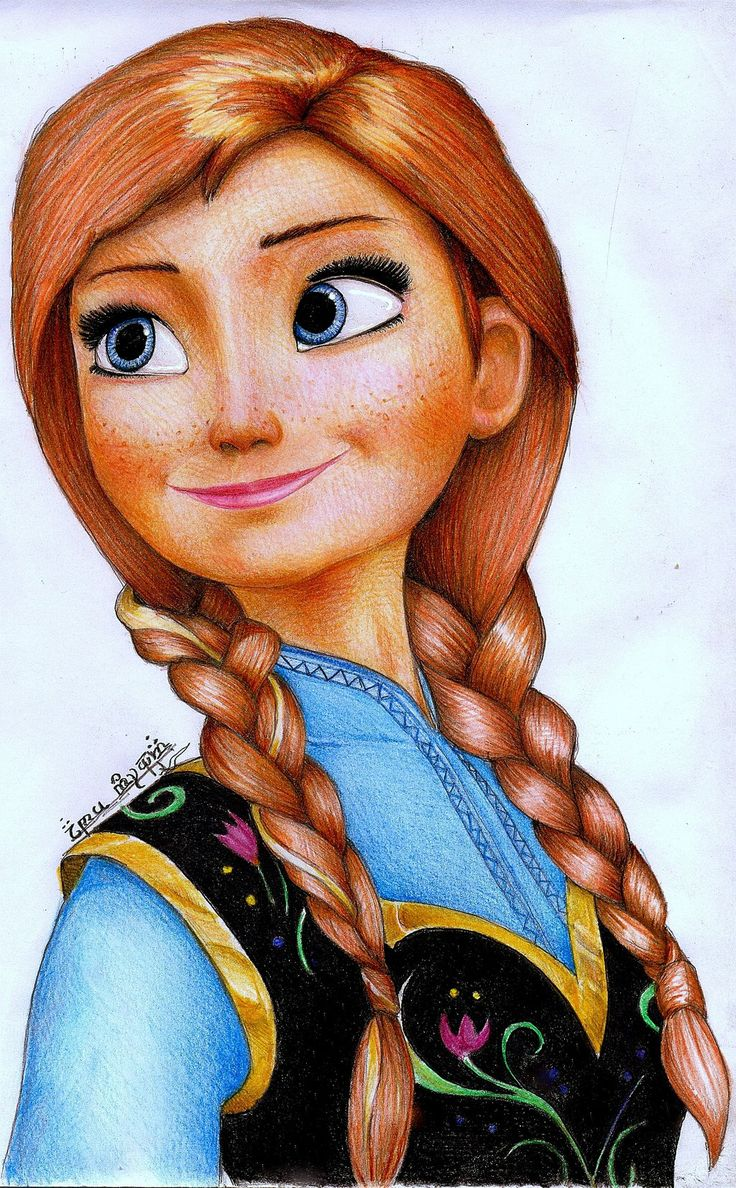 Princess anna from frozen by on - Princesse frozen ...