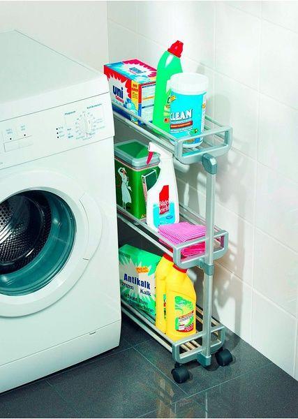 Создайте в нишах шириной от 20 см дополнительное место для хранения предметов в кухне или ванной комнате. Вместительные алюминиевые корзины можно по возможности заполнить запасами или моющими средствами. Легко передвигается за счет 4 гибких парных колесиков. Декоративная алюминиевая поверхность. Размеры: В/Ш/Г 75х20х60 с�