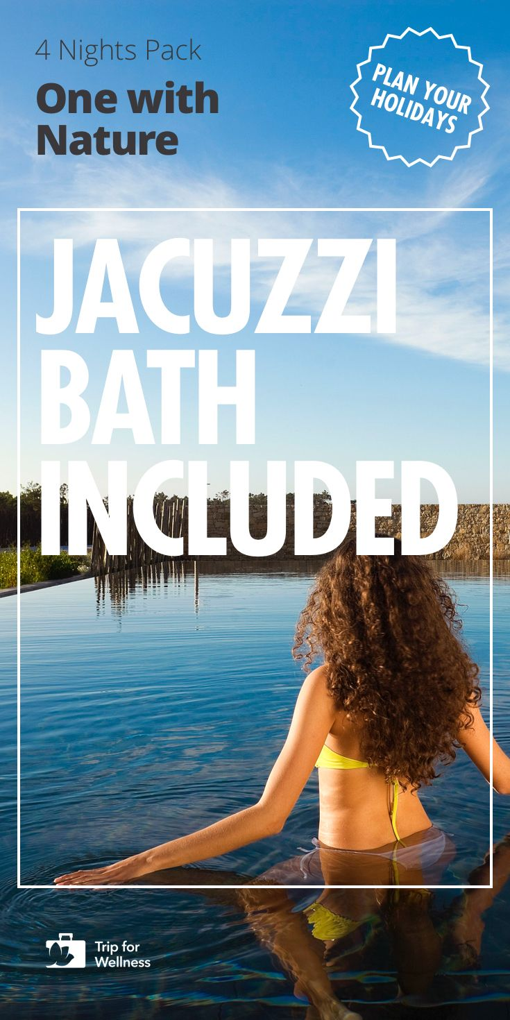 Stay at a Rural Charm Hotel in Portugal and relax with our luxury special wellness program. Jacuzzi Bath included. You won't find this travel anywhere besides Trip For Wellness.