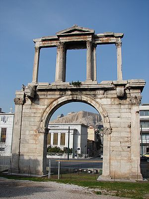 VISIT GREECE | The Arch of Hadrian is a monumental gateway resembling – in some respects – a Roman triumphal arch. #monuments #history #art&culture