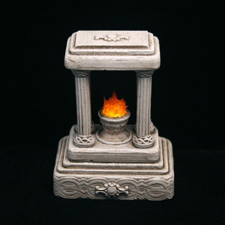 Monument #8 *LIGHTED* Miniature Halloween Village Graveyard for Spooky Town D56