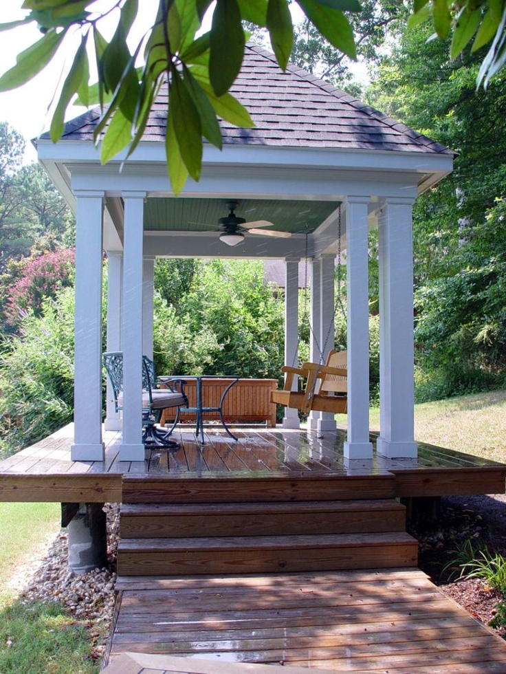 29 best images about gazebo fireplace on pinterest patio for Plans for gazebo with fireplace