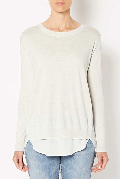 Women's New In | Clothing | Witchery Online - Rib Spliced Back Knit #WITCHERYSTYLE