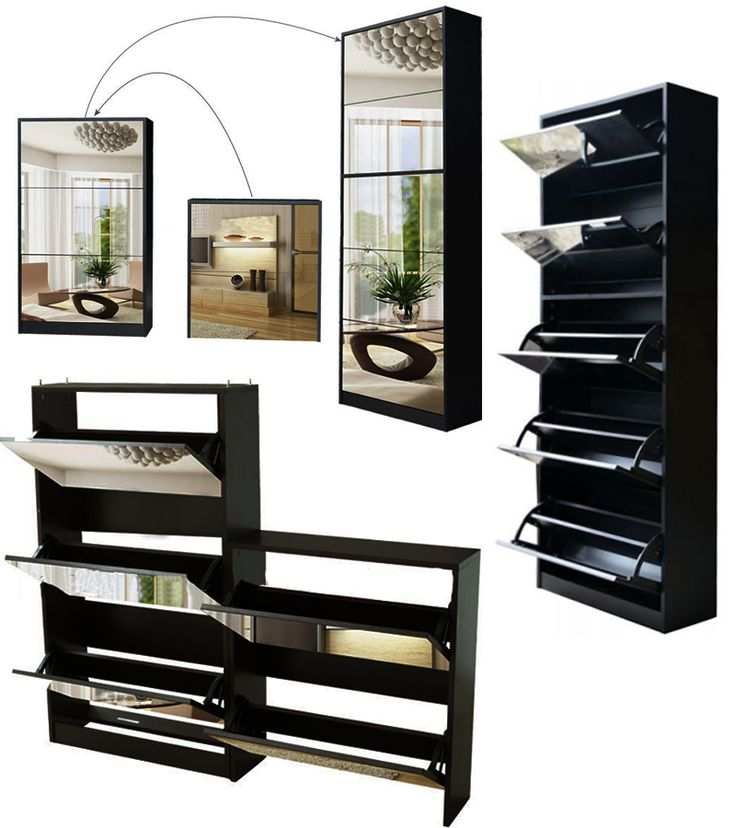 Black Wooden shoe cabinet