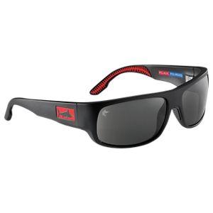 Pelagic Big Marlin Polarized Glass Sunglasses - Matte Black/Grey