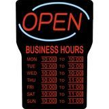 Royal Sovereign - LED Open Sign with Hours, RSB-1342E